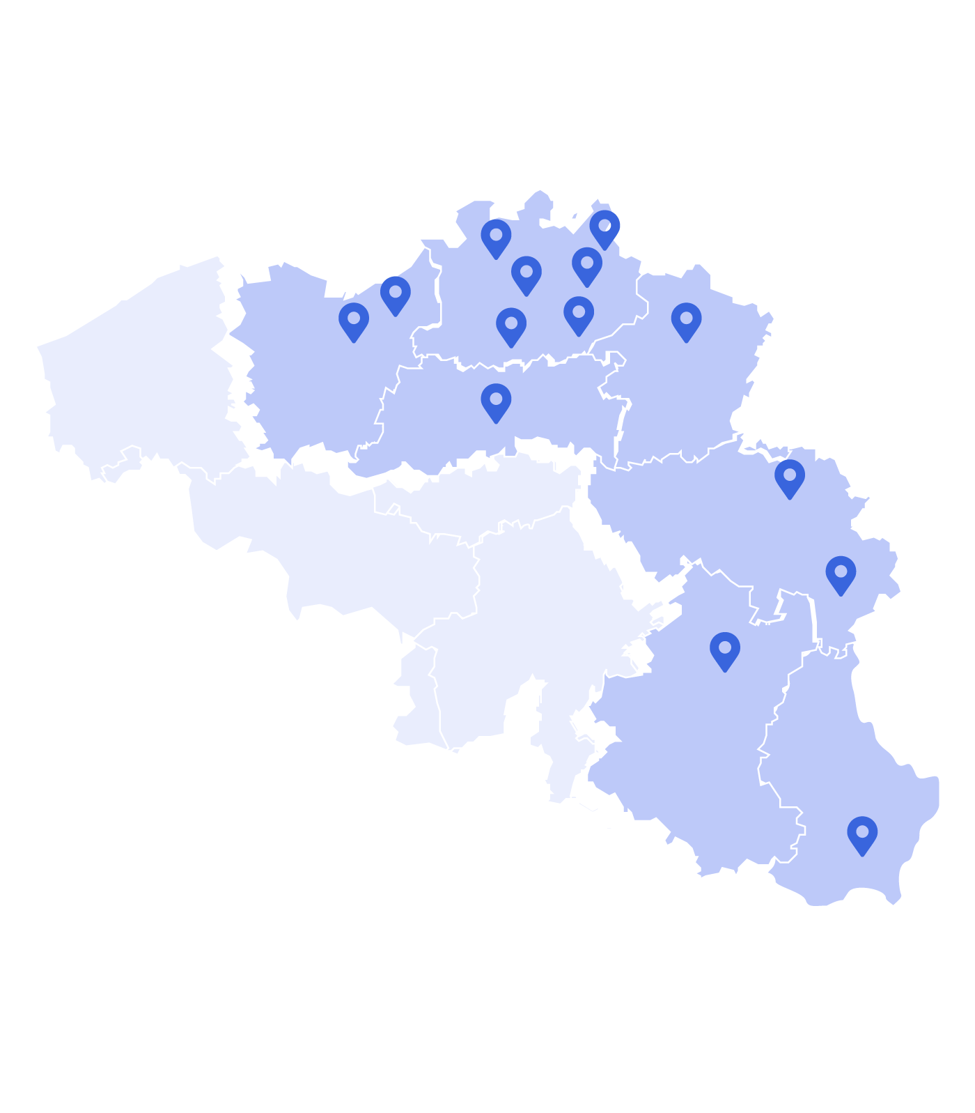 Map of companies WVDI